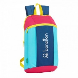 Mochila Benetton Colorines 22x39x10cm.