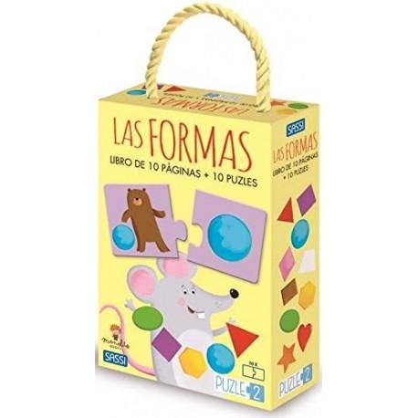 LIBRO DE 10 PAGINAS Las Formas + 10 PUZZLES