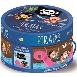 LIBRO PIRATAS + PUZZLE GIGANTE 30 PZS