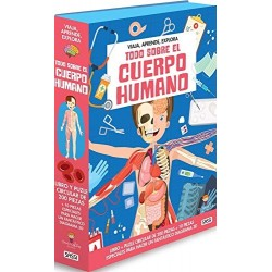 TODO SOBRE EL CUERPO HUMANO LIBRO Y PUZZLE 200 PIEZAS