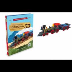 Construye Locomotora 3D. Libro + Maqueta 3D.