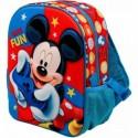 Mochila 3D Mickey Disney 31x27x11cm.