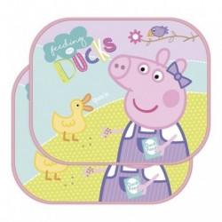 SET 2 VISERAS DE SOL COCHE PEPPA PIG INCLUYE LAMINA PARA COLOREAR 44X36CM