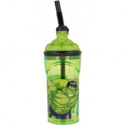 Vaso Figura 3D Avengers Hulk 360ml.
