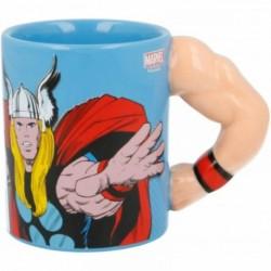 Taza 3D Brazo Thor Ceramica 330ml.