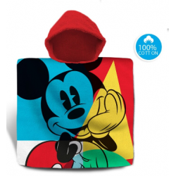 Poncho Toalla Mickey Disney Algodon 120x60cm.