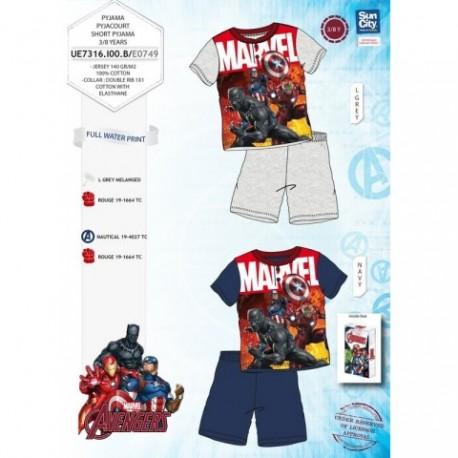 Pijama Avengers Marvel 4Und.T. 3 a 8   C/Regalo