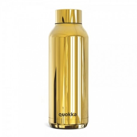 BOTELLA TERMO QUOKKA SLEEK GOLD ACERO INOXIDABLE 510ml.