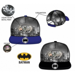 Gorra Batman Hip Hop Visera Plana T.52-54