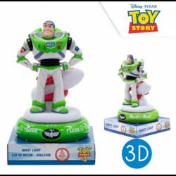 Lampara De Noche Figura 3D Toy Story Buzz 25cm.