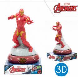 Lampara De Noche Figura 3D Ironman 25cm.