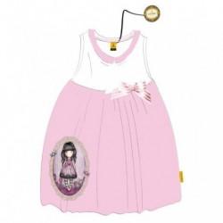 Vestido Gorjuss Blanco Rosa T.12