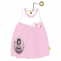 Vestido Gorjuss Blanco Rosa T.14