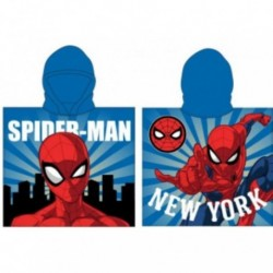 Poncho Playa Spiderman Marvel Microfibra 55x110cm.