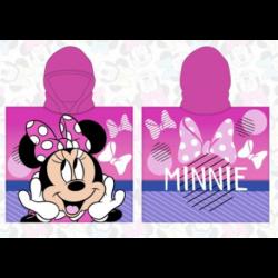 Poncho Playa Minnie Disney Microfibra 55x110cm.