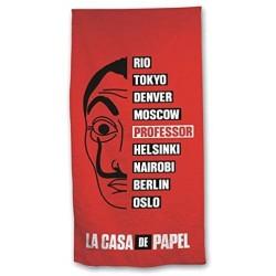 Toalla La Casa de Papel Microfibra 70x140cm.