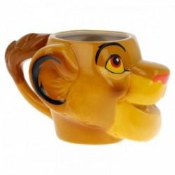 Taza 3D Simba Rey Leon Ceramica 410ml.
