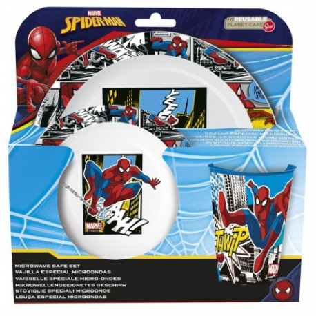 Set Desayuno Micro Spiderman Marvel