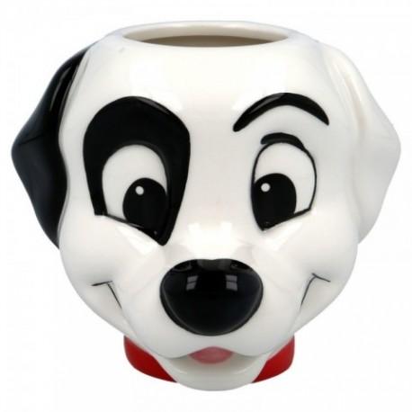 Taza 3D 101 Dalmatas Disney Ceramica 410ml.