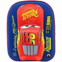 Mochila Cars Disney Con Luz Leds Y Sonido 3D 24x32x9cm.