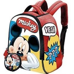Mochila Neopreno + Monedero Mickey Disney 22x18 cm