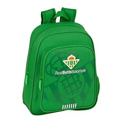 Mochila Junior Real Betis Adaptable 28x10x34cm.
