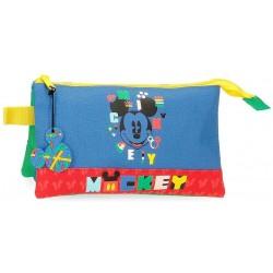 Portatodo Triple Mickey Disney 22x12x5cm.