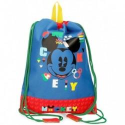 Saco Mochila Mickey Disney 27x34cm.