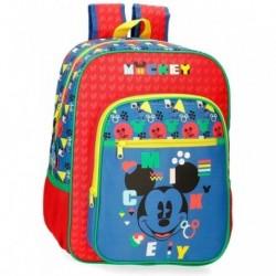 Mochila Infantil Mickey Disney Adaptable 27x38x11cm.