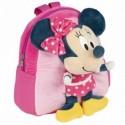 Mochila Guarderia Minnie Disney Con Peluche 20x23x8cm.