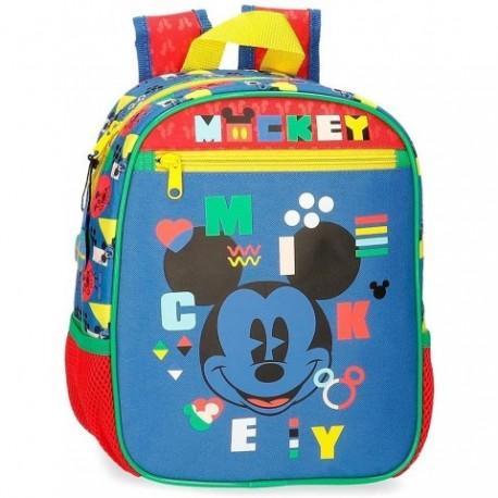 Mochila Mickey Disney 23x28x10cm.