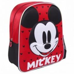 Mochila 3D Infantil Mickey Disney 25x31x10cm.