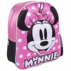 Mochila 3D Infantil Minnie Disney 25x31x10cm.