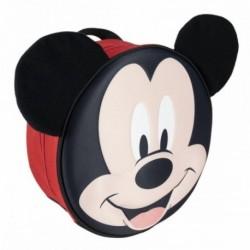 Mochila Infantil 3D Mickey Disney Premium Aplicaciones 27x27x9cm.