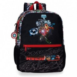 Mochila Avengers Infantil 25x32x12cm.