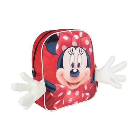 Mochila Infantil Con Aplicaciones Minnie Disney 25x31x1cm.