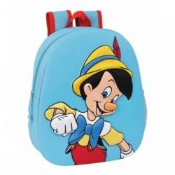 Mochila 3D Pinocchio Adaptable 27x10x32cm