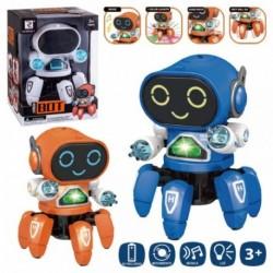 ROBOT PULPO 3/C ANDA LUZ Y SONIDO 14 X 14 X 17 CM