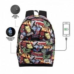 Mochila HS Avengers Marvel 45x37x15cm.