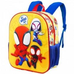 Mochila 3D Spiderman Marvel 31x27x11cm.