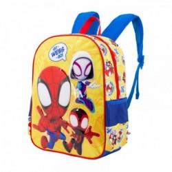 Mochila Basic Spiderman Marvel 31x40x15cm.