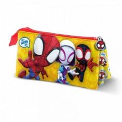 Portatodo Triple Spiderman Marvel 11x23.5x5cm.