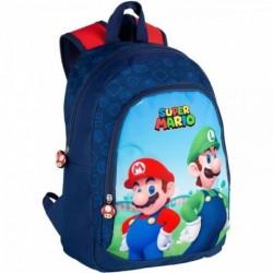 Mochila Mario y Luigi Super Mario Bros 27x38x11,5cm.