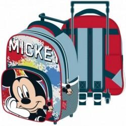 Mochila Trolley Mickey Disney 24x36x12cm.