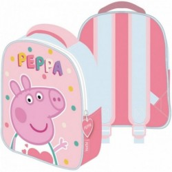 Mochila Peppa Pig 28x23x9cm.