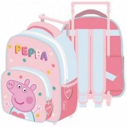 Mochila Trolley Peppa Pig 24x36x12cm.