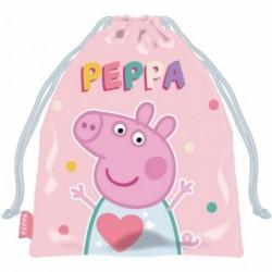 Saco Merienda Peppa Pig 26,5x21,5cm.