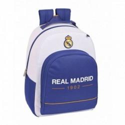 Mochila Con Base Protection Real Madrid Adaptable 32x15x42cm.