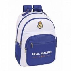 Mochila Doble Real Madrid Adaptable 32x15x42cm.
