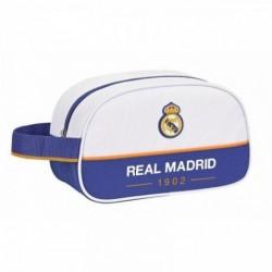Neceser Un Asa Real Madrid Adaptable 28x10x18cm.